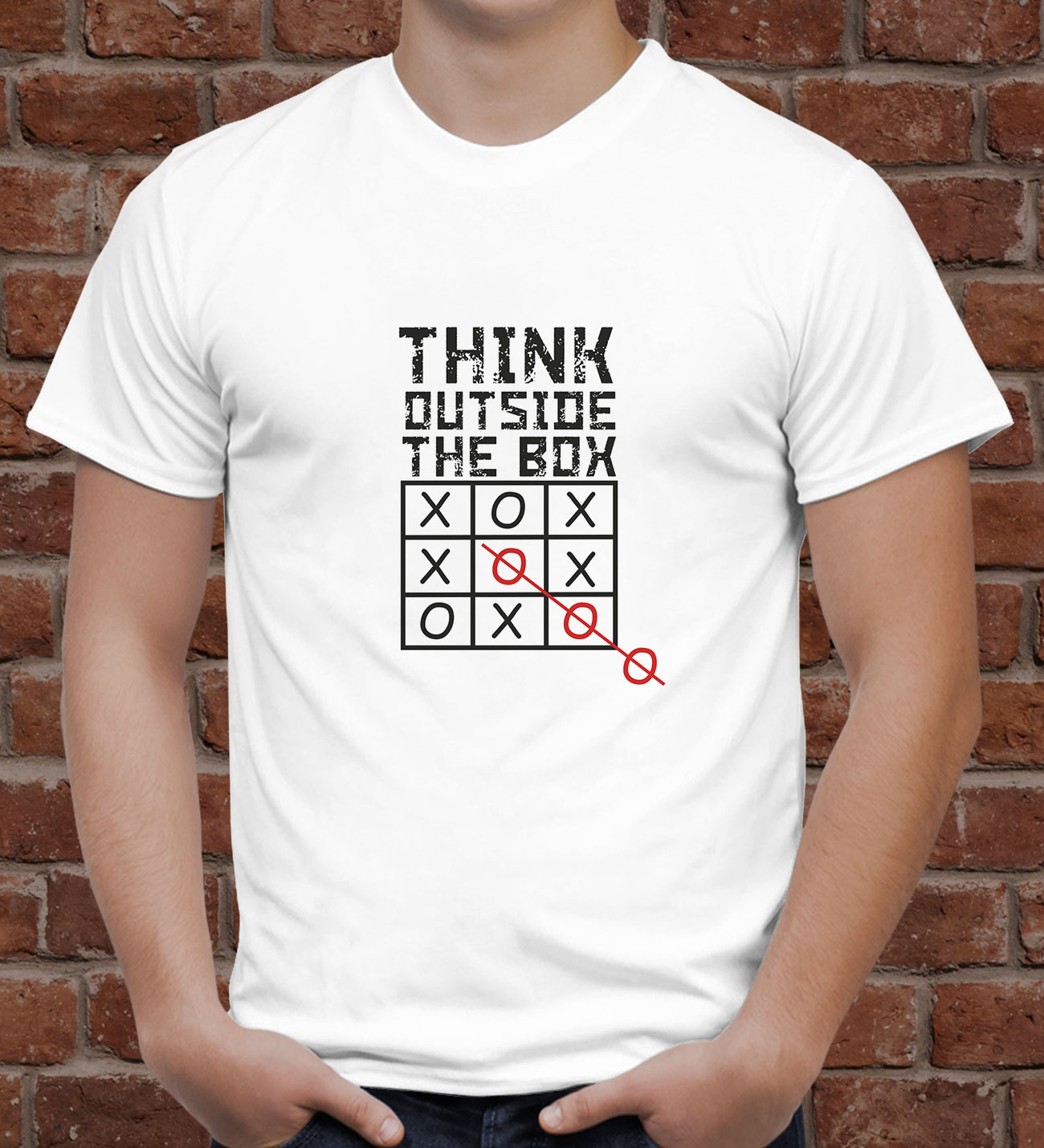 Think Outside The Box Erkek T-shirt